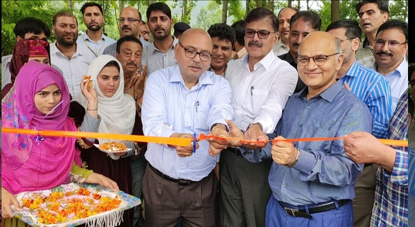 Advisors jointly inaugurate floodlights at SK Stadium, play-field in Bandipora