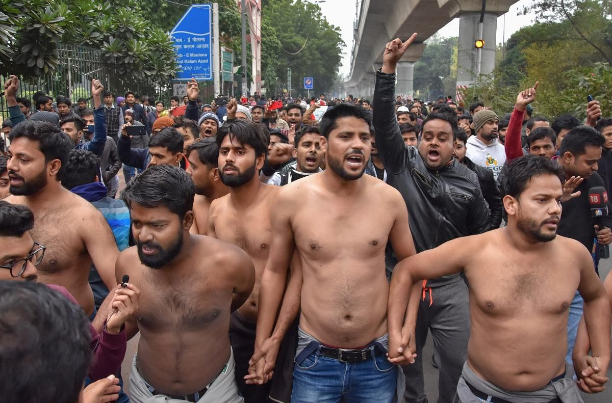 Protests erupt across India over CAA, police action against Jamia students