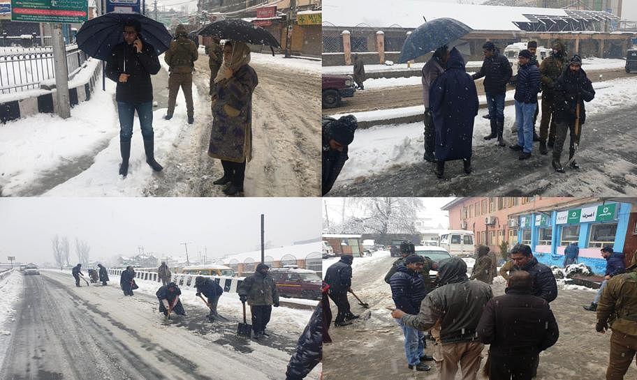 Snow-clearance machinery activated across Srinagar, DC tours city for firsthand assessment