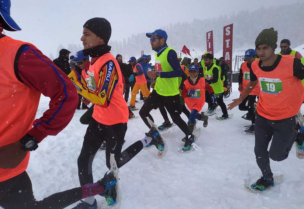 Khelo India Winter Games | Suhail , Ayan cruise to victory in SnowShoe run
