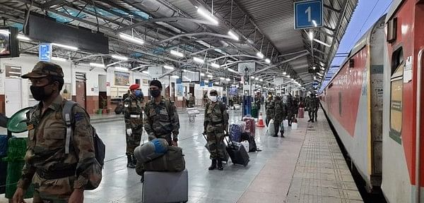 Special military train with 700 soldiers reaches Jammu