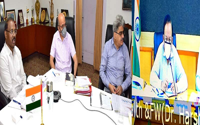 LG briefs Union health minister about efforts to combat COVID19