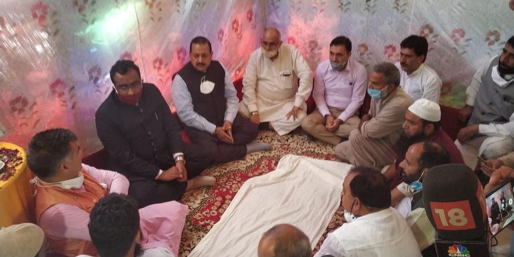 Ram Madhav visits slain BJP leader's family in Bandipora, demands increased security for J&K party men