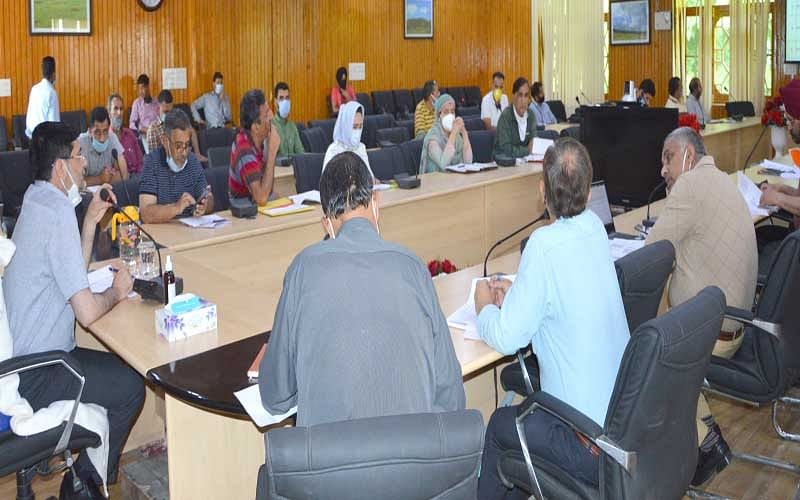 DC Budgam chairs bankers meeting