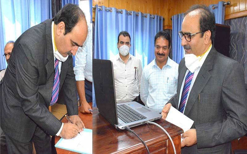 Lone administered oath as JKPSC member