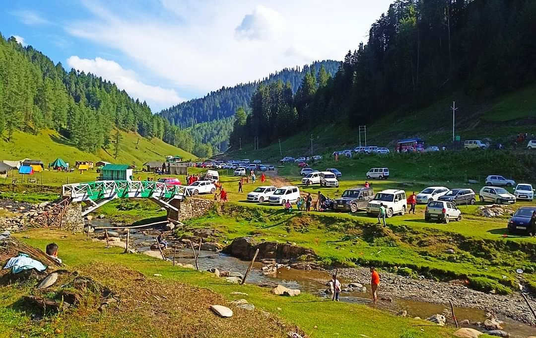 Local tourists throng high altitude meadows of Bhaderwah Valley