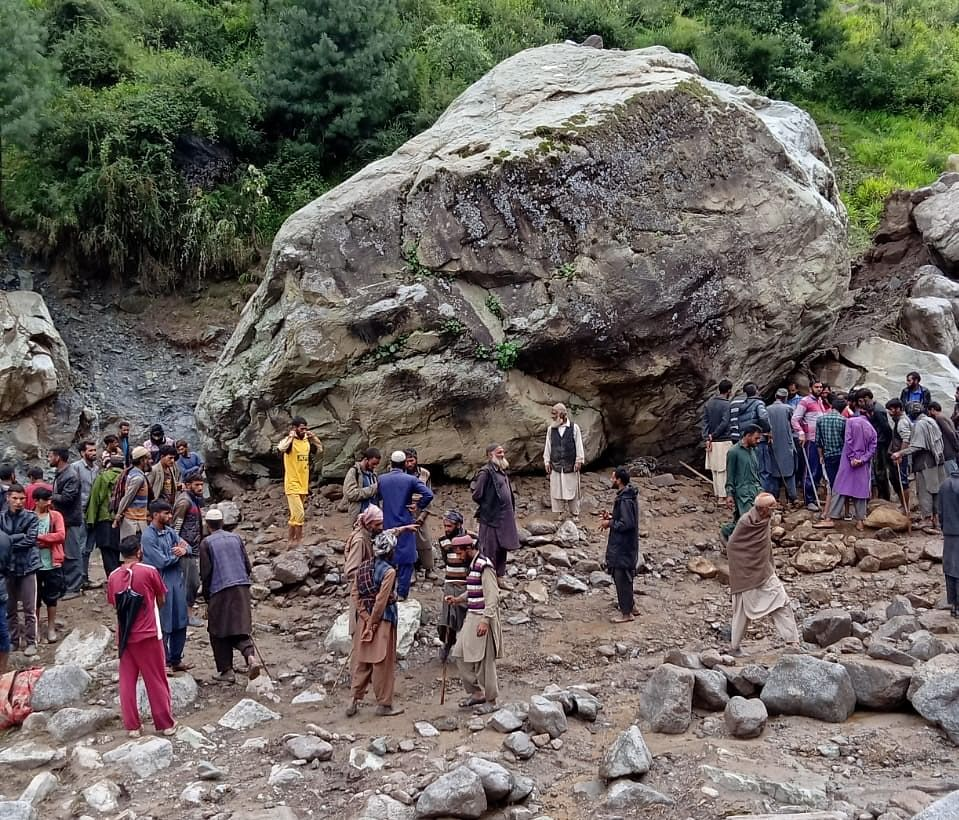 Three of nomad family, livestock buried under landslide in Mahore