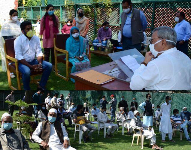 Advisor Khan meets several deputations during grievance camp