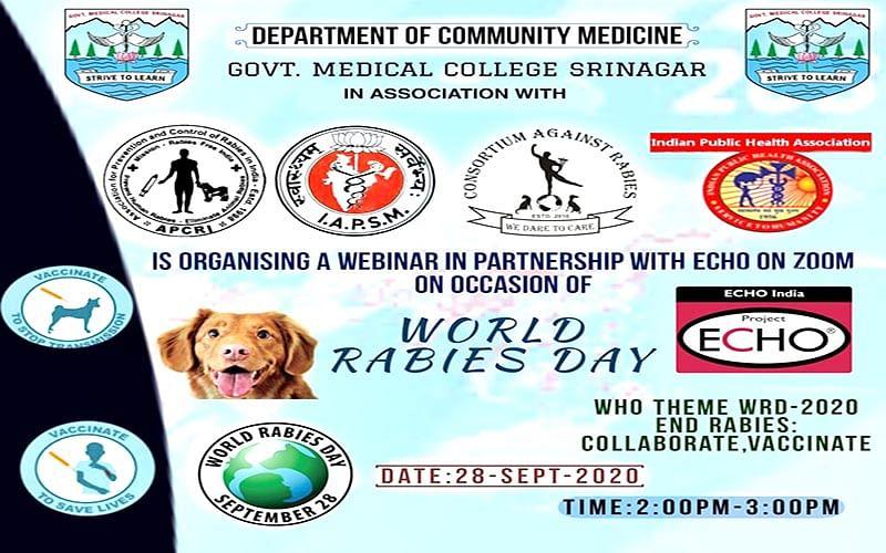 World Rabies Day held at GMC Srinagar