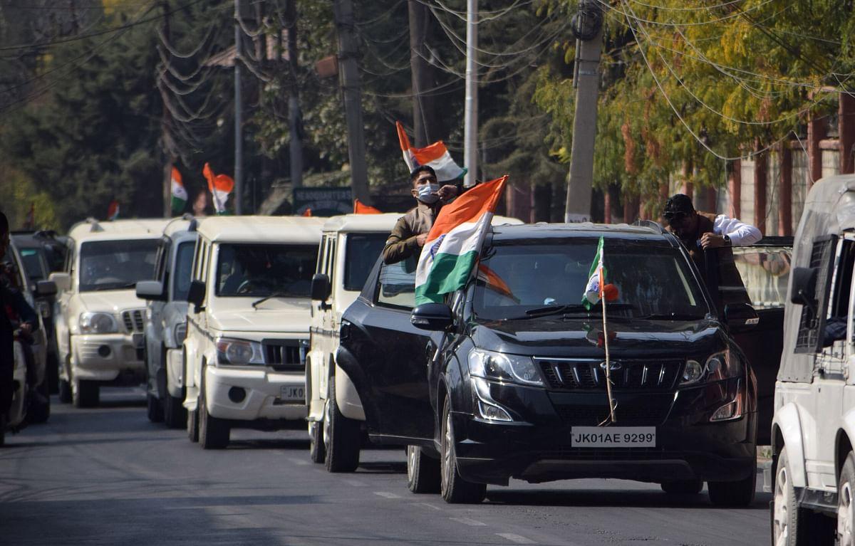 BJP supporters take out 'Tiranga rally' in Srinagar