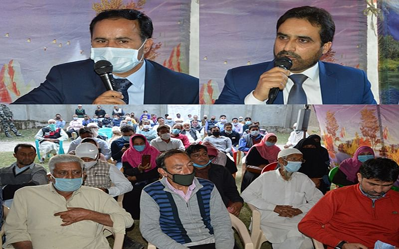 Zargar, Itoo  holds public grievance camp in Baramulla