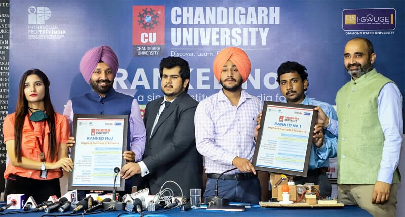 'Chandigarh University files highest number of patents in a year'