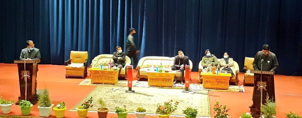 Newly elected councillors of LAHDC-Leh administered oath