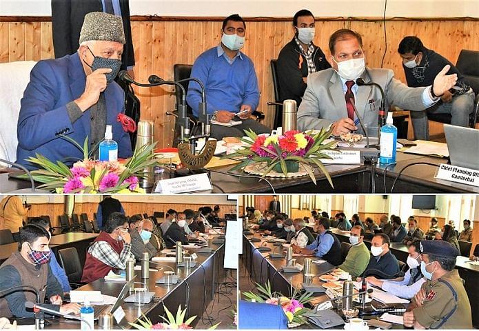 Farooq Abdullah reviews development scenario in Ganderbal