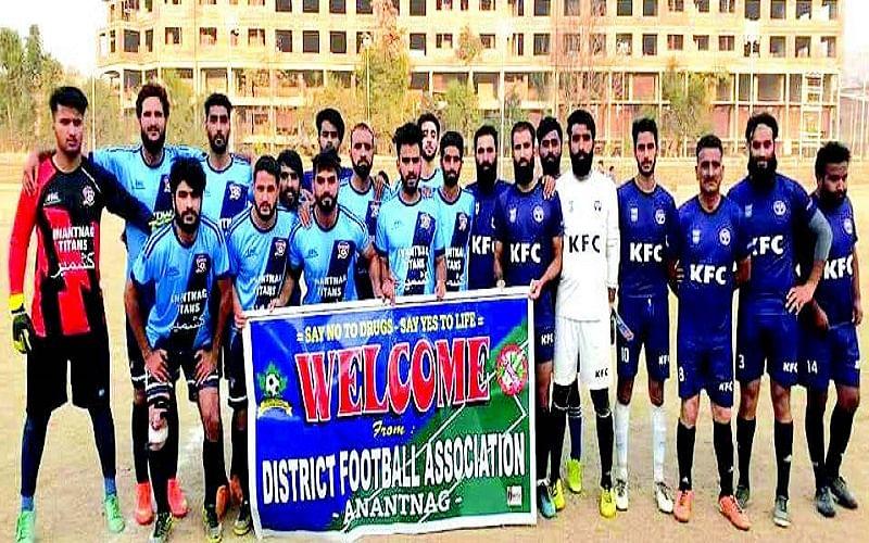 Anantnag Knockout Tourney   Titans FC beat Khanabal FC