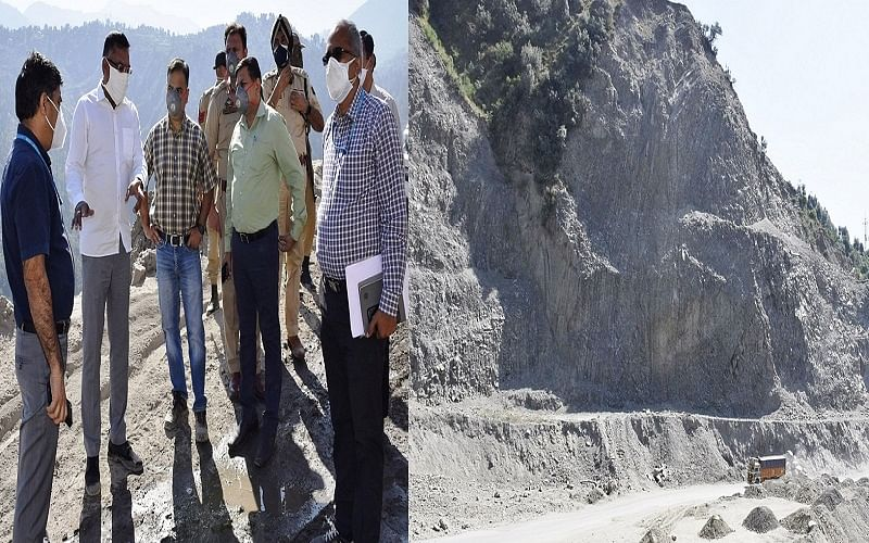 Four  Laning  Project | Kumar reviews work on Nashri-Banihal highway stretch