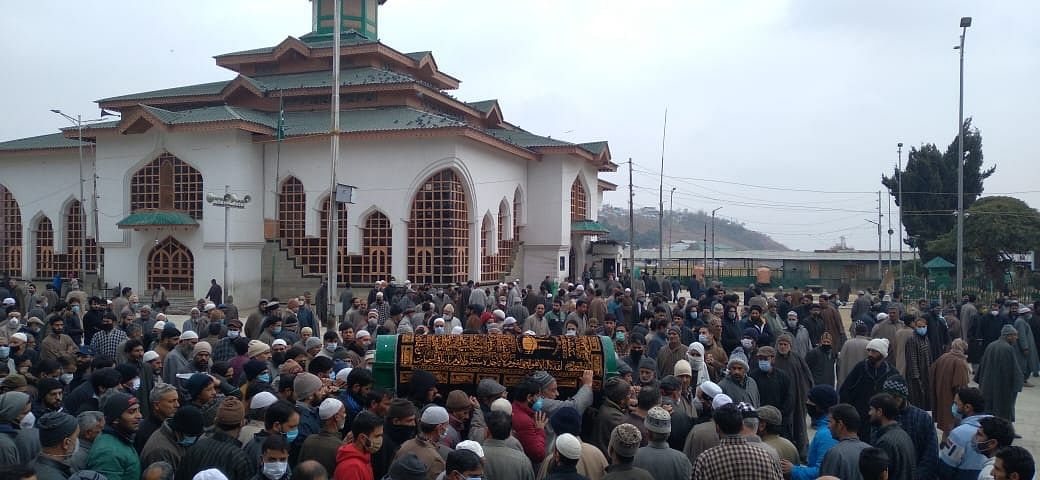 Hundreds continue to visit residence of Muddasir Ali
