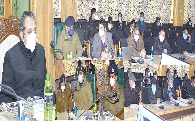Advisor Baseer Khan reviews preparedness in south Kashmir