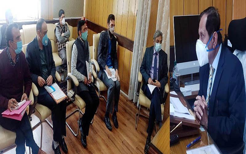 Advisor Bhatnagar reviews Revenue Department's performance