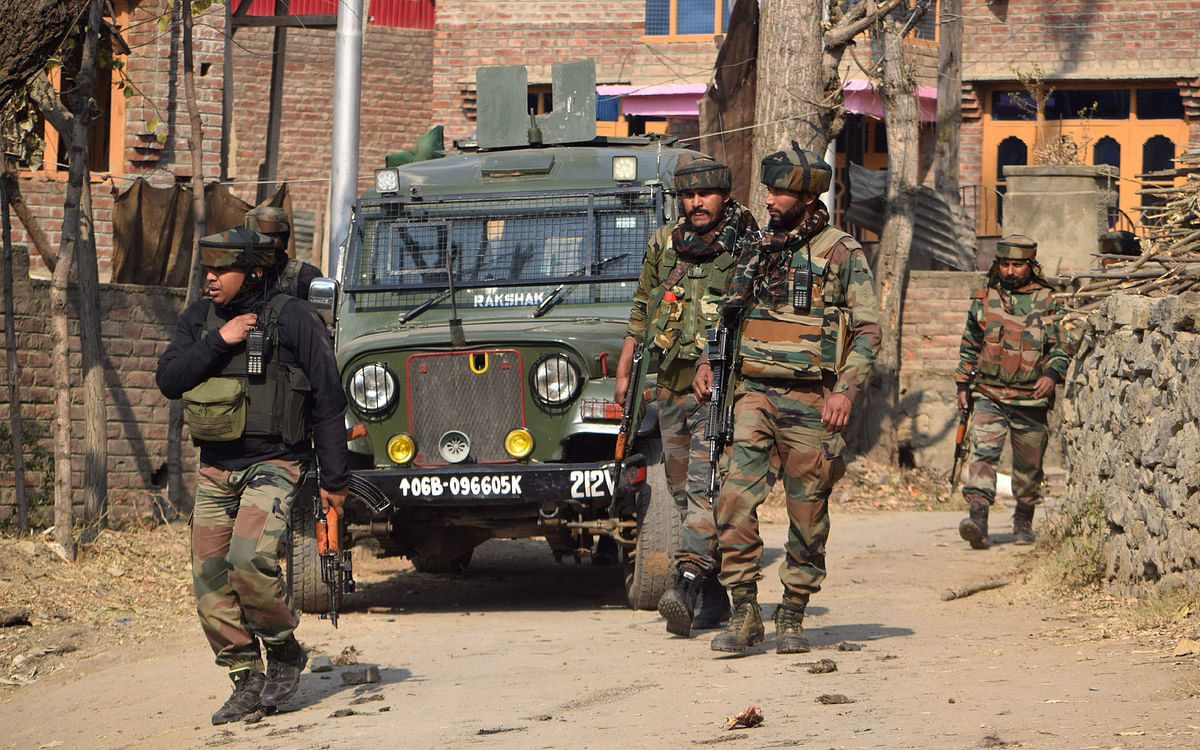 Suspected explosive material found during CASO in south Kashmir's Pulwama