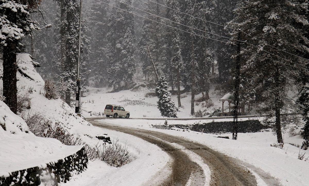 Higher reaches receive light snowfall; rain in plains