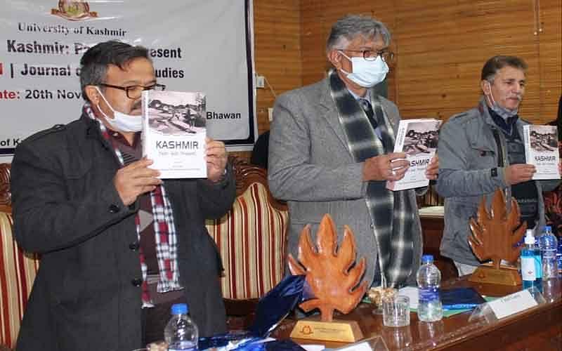 Prof Talat releases book, journal on Kashmir studies