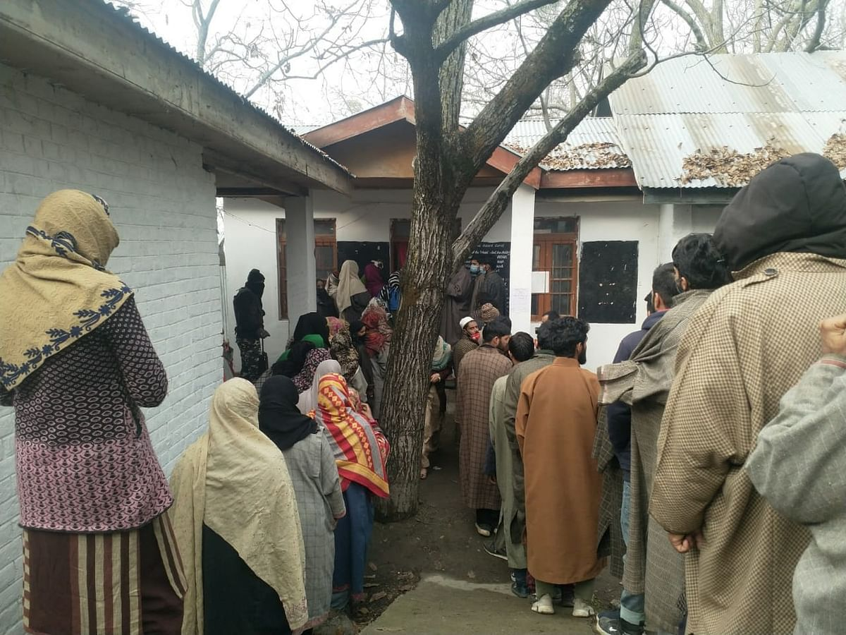Polling underway for third phase of DDC polls in J&K