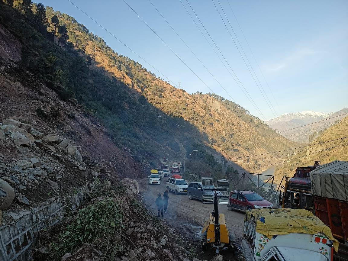 Jammu-Srinagar national highway reopens for traffic after landslide debris cleared