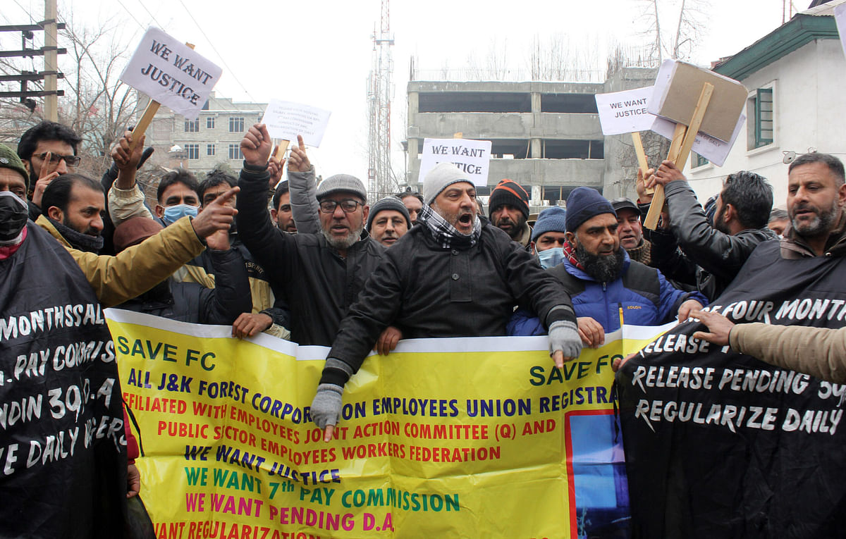 Forest Corporation employees stage protest