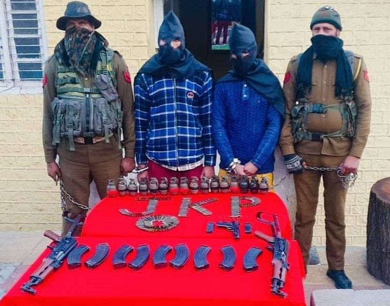 Two Kashmir-based militant operatives held in Ramban with weapons dropped at border by drone: Police