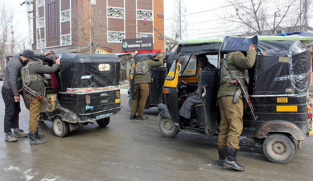 Security beefed up across Kashmir