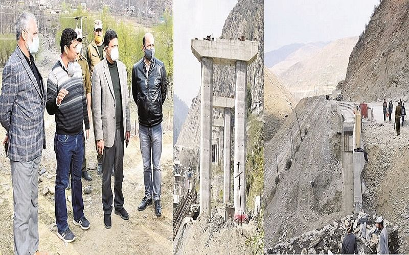 Div Com reviews pace of work on NH-44, Amarnath Yatra arrangements