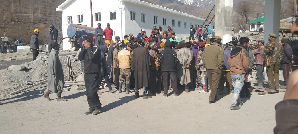 Work on Banihal-Qazigund tunnel halted as workers go on strike over non-payment of wages
