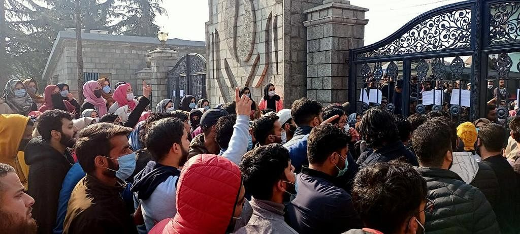 'Flawed' recruitment rules: Horticulture graduates at SKUAST-K protest for 3rd straight day