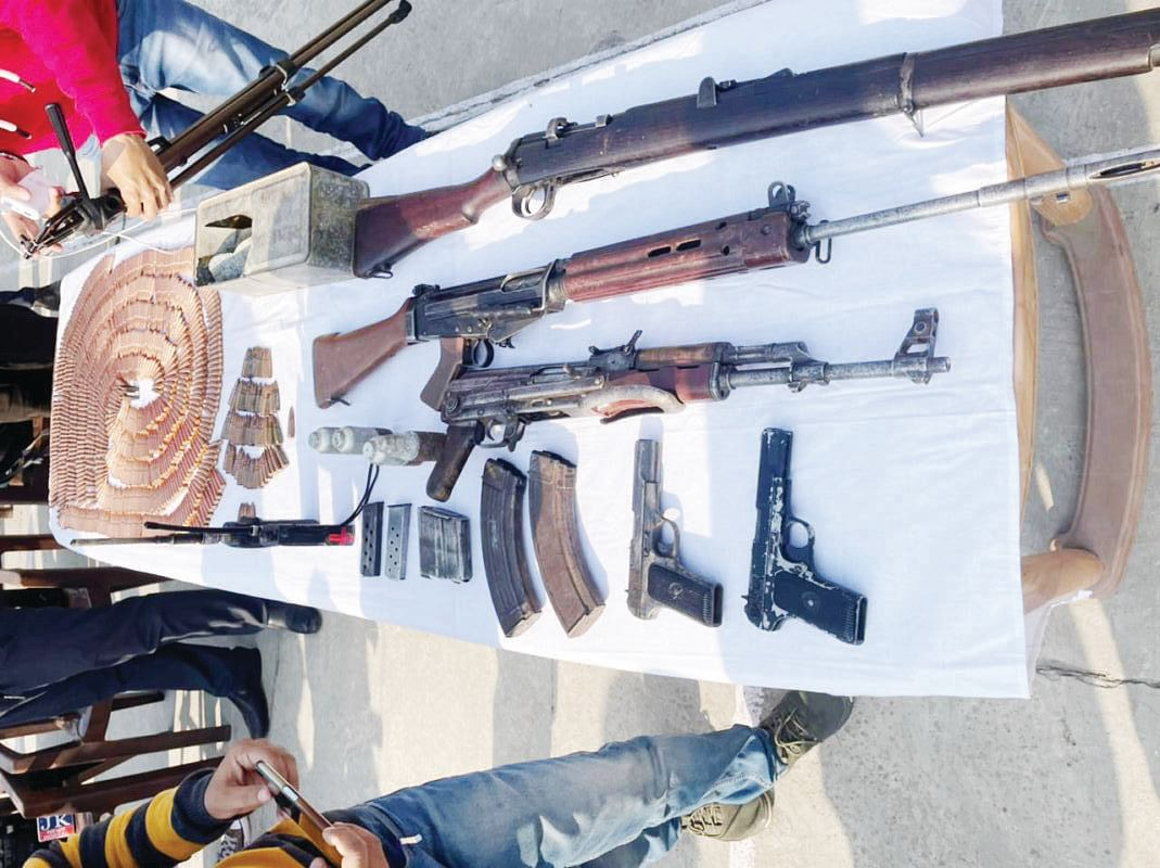 Militant hideout busted in Mahore; cache of arms, ammunition seized