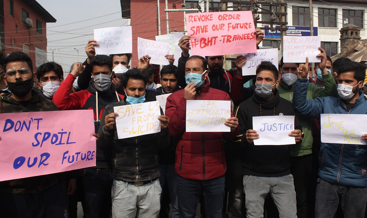 Basic Horticulture Trainees stage protest