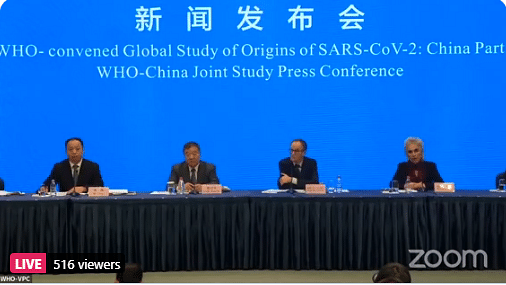 WHO says Coronavirus unlikely to have leaked from China lab