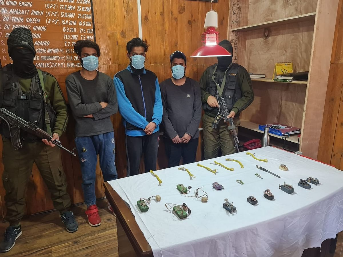Three Hizb associates arrested in Tral, IED material recovered: Police