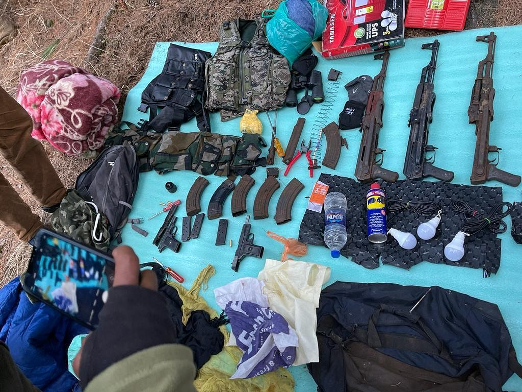 Militant hideout unearthed in south Kashmir's Anantnag