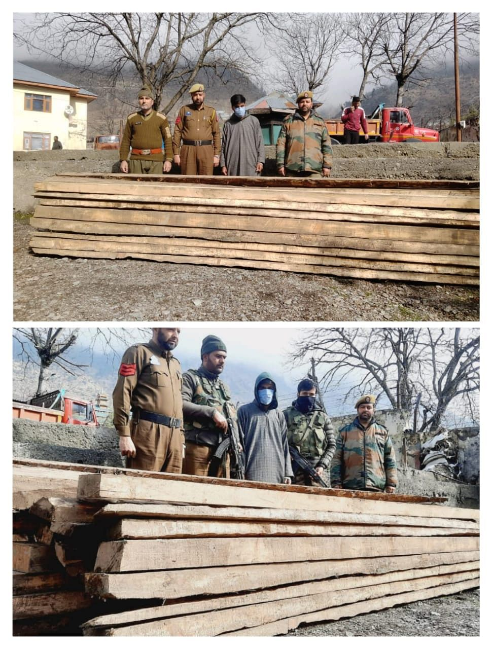 Man held with illicit timber in central Kashmir's Ganderbal: Police