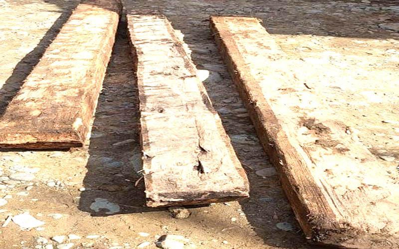 Illicit timber seized in Sopore