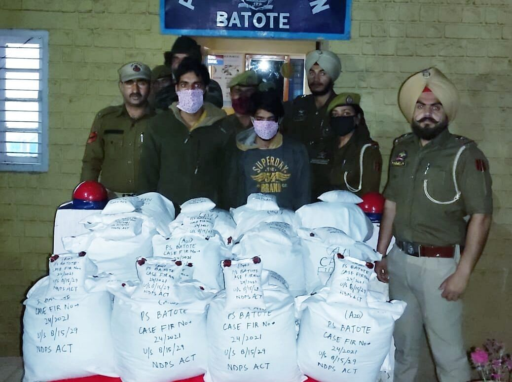 Truck driver, helper held with over a quintal of poppy straw in J&K's Ramban