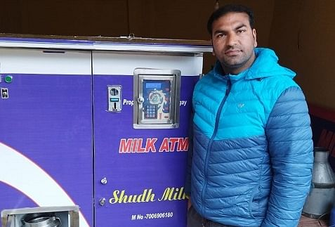 'No more moving around': Pulwama man sets up Kashmir's first 'milk ATM'