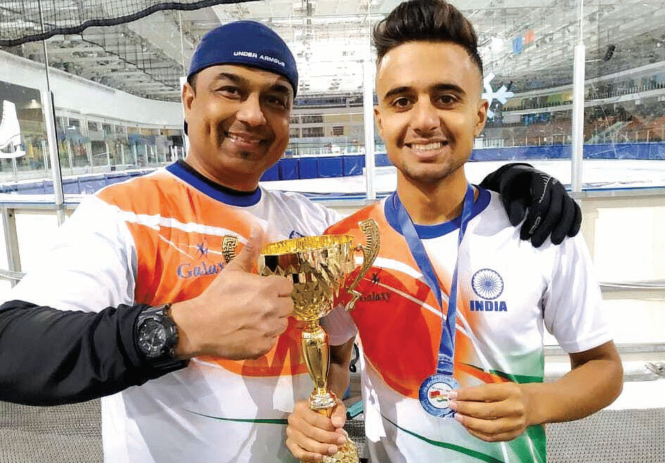 Basharat Mir's resolute temperament helps him to excel as Kashmir's top ice-skater
