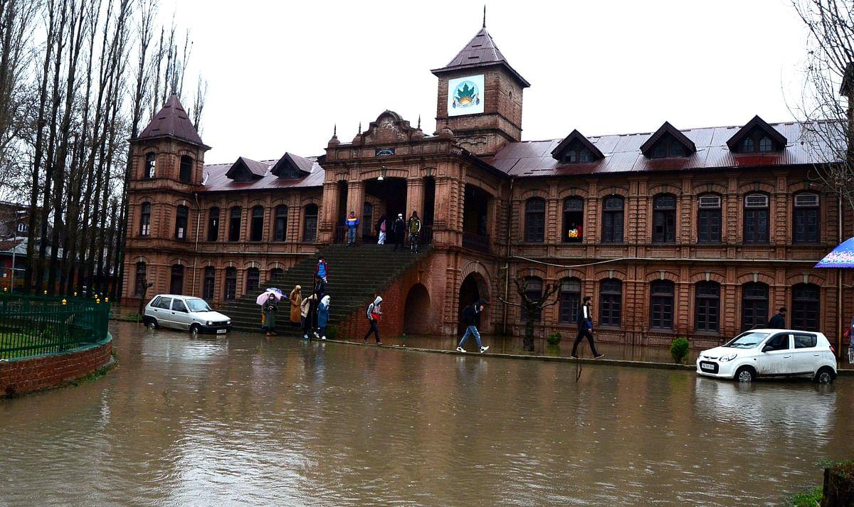 In Frames: Few Days' Rain Turns Historic Amar Singh College Into A Pool