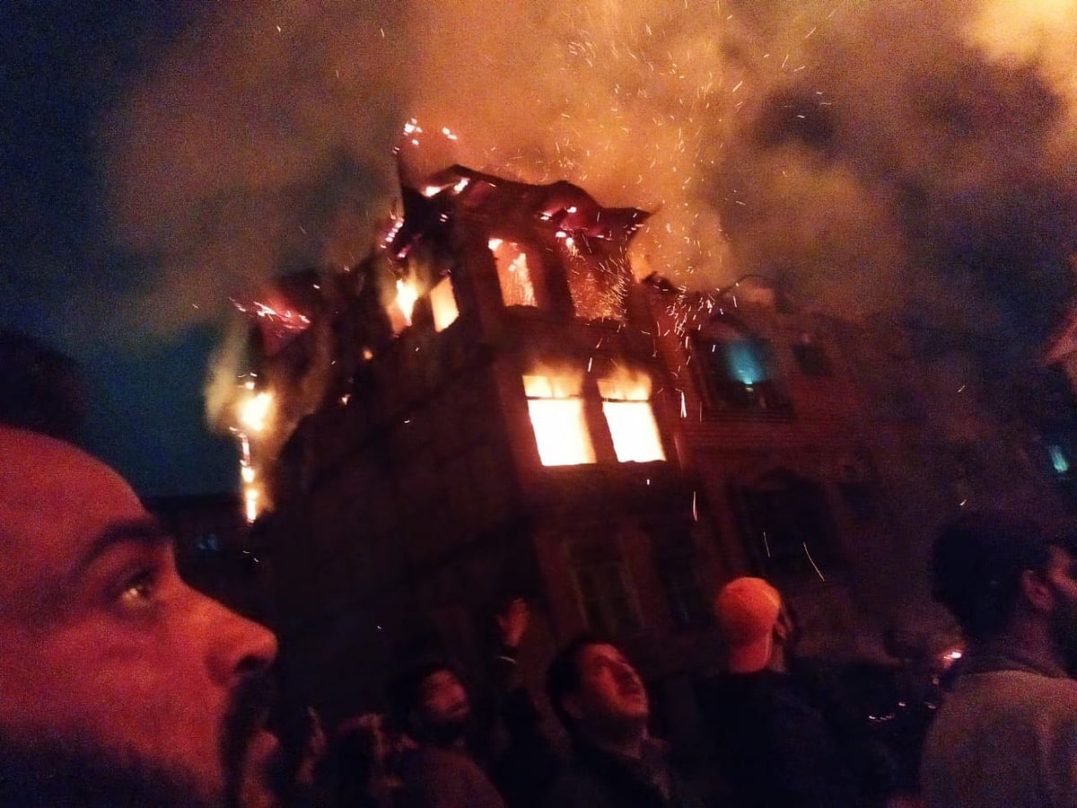 Fire engulfs business unit, two residential houses in Fateh Kadal Srinagar