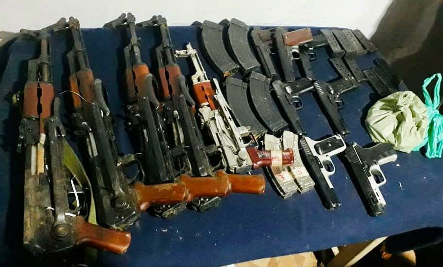 Arms and ammunition recovered in north Kashmir's Karnah