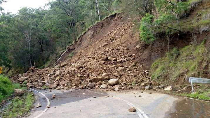Fast winds damage residential house; landslides hit Uri