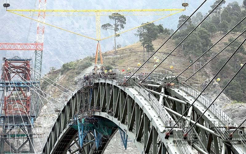 Arch of world's highest railway bridge on Chenab completed