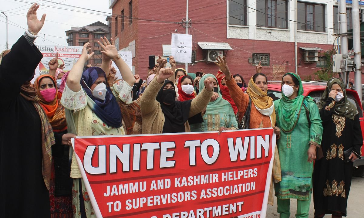 ICDS workers stage protest, seek salary release